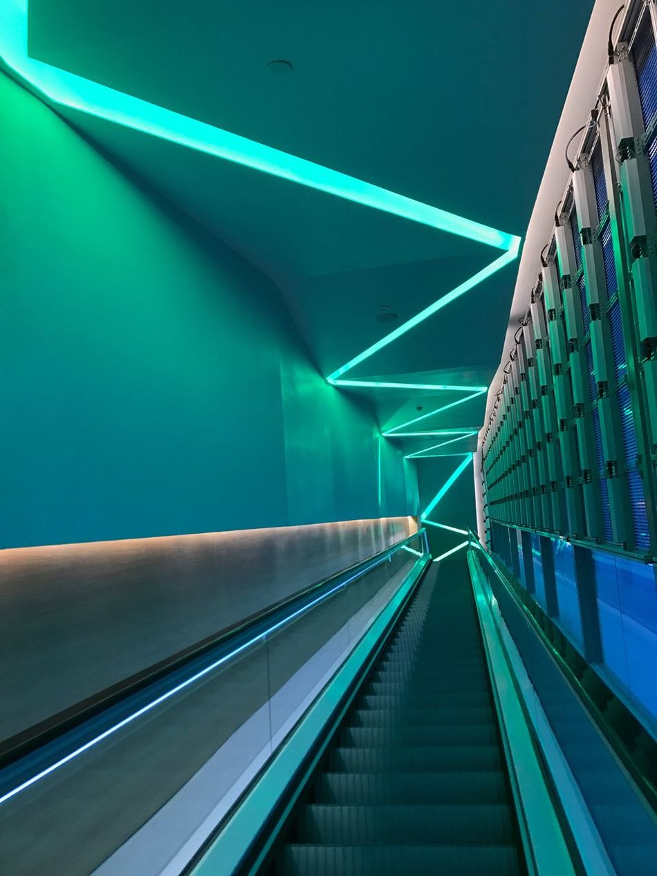 Escelator Lighiting Mystery Move Interior Design