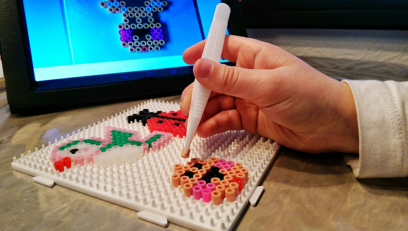 The actual hobby of my little one. Perler Beads.Precision BCG Art Hobby Handicraft