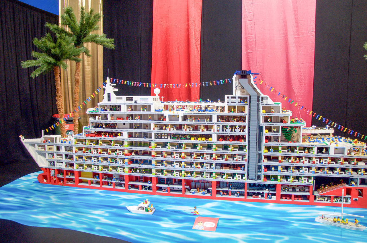 Lego cruise ship sculpture at the Brickman Experience in Perth, Western Australia. Art Artistic Bisection Brickman Experience Bricks Colorful Creative Cruise Ship Day Display Event Interactive  LEGO Legophotography Outdoors Perth Pieces Red Sculpture Ship Tourist Attraction  Toy Toy Photography Vibrant Western Australia