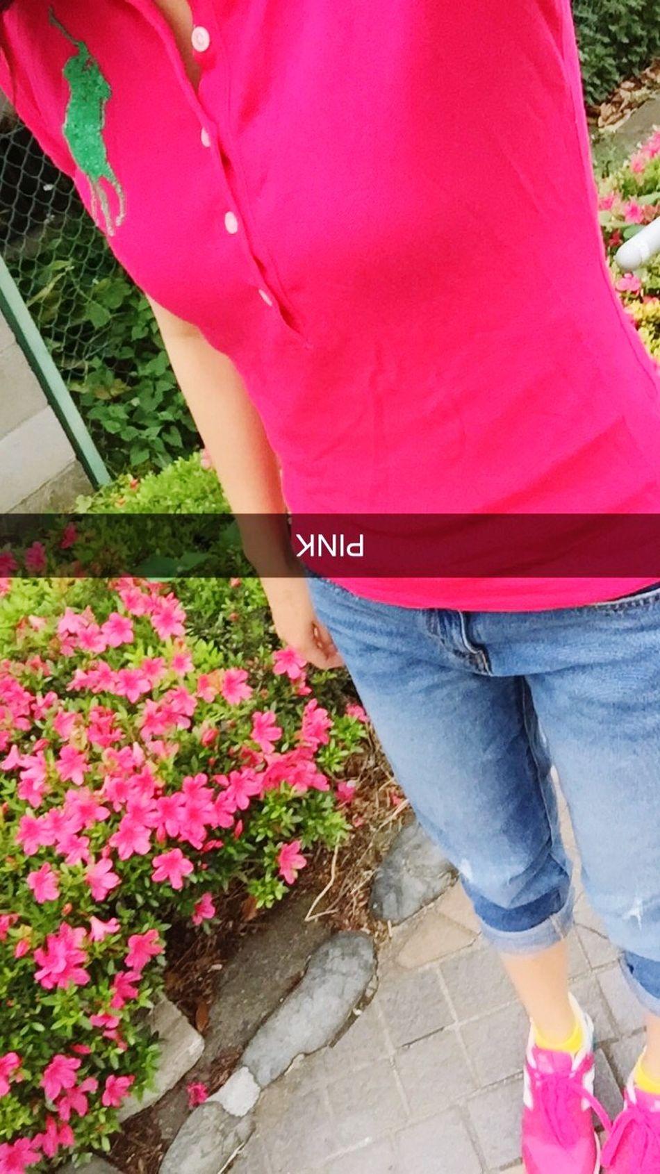 PINK Coordinates Pink Todaycoordinate Polo Ralph Lauren NewBalance Flower Comesummre