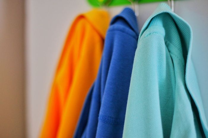 Multi Colored Textile Clothing Fashion Close-up Indoors  Variation No People Blue Hanging Coathanger Choice Day Serkansert Travel Destinations 5dMarkⅡ EyeEm Gallery MyGallery