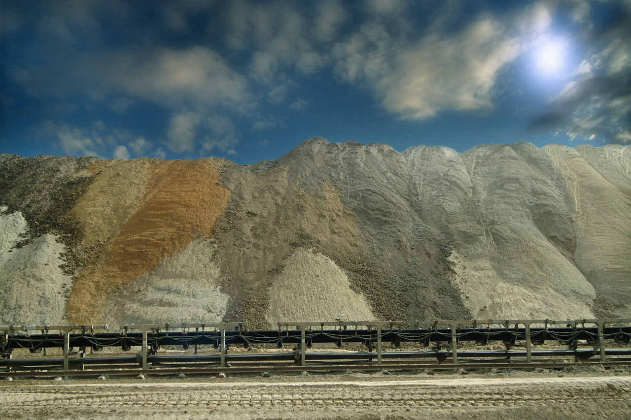 Artificial Blue Sky Industrial Area Industrial Landscapes Industrial Machine:)) Lignite Lignite Mining Area Mine Sand
