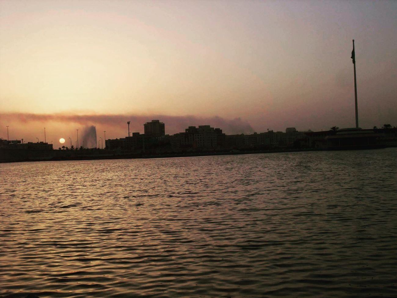 Sunset Water City Outdoors Environment No People Nature Jeddah City Jeddah😍❤️ Saudi Arabia 18YearsOld First Eyeem Photo