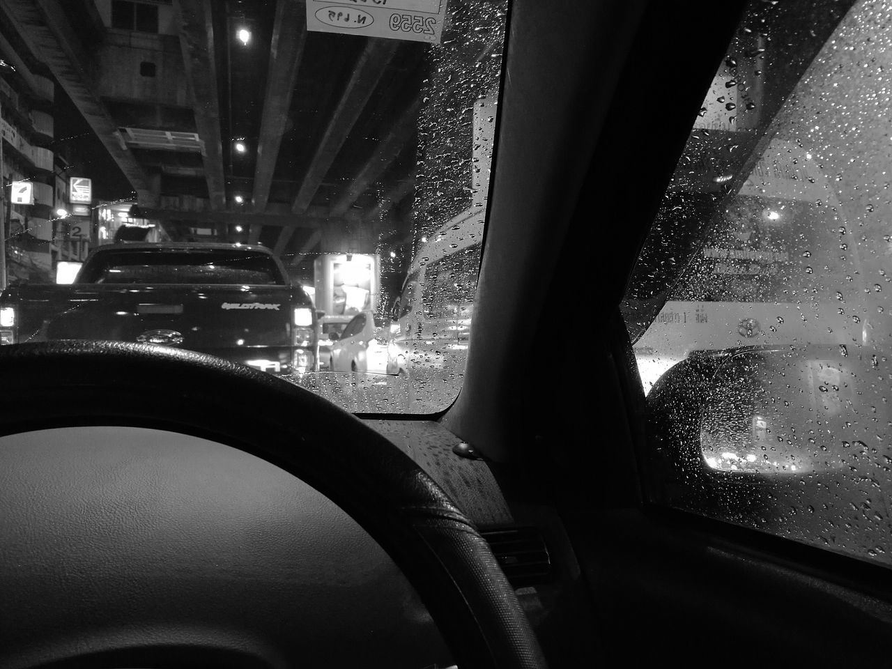 Night Car Road City Transportation City Life Street Season  Rain