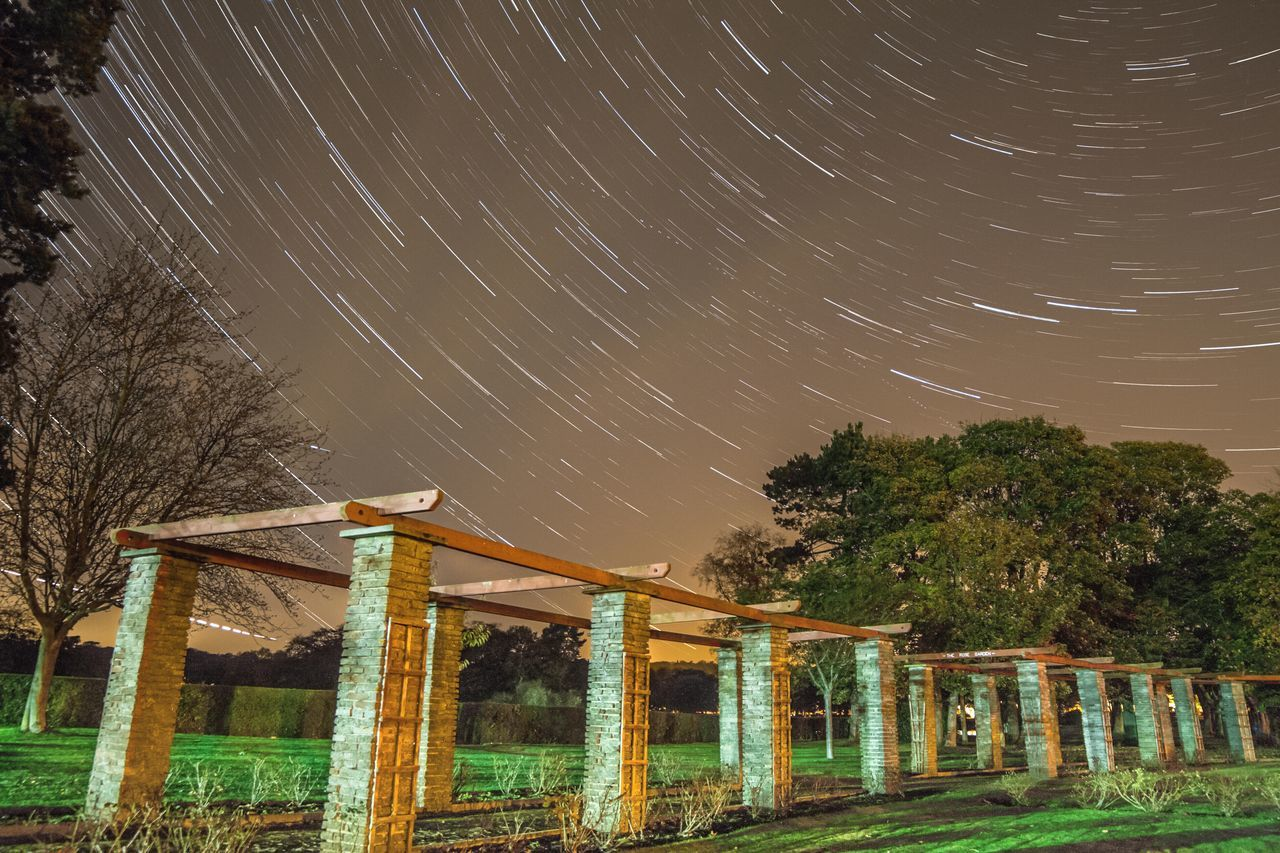 Nice evening..:) Astronomy Beauty In Nature BestEyeemShots Bestoftheday Constellation EyeEm Best Shots Galaxy Milky Way Nature Night No People Outdoors Park Sky Space Space And Astronomy Star - Space Star Field Star Trail Tree