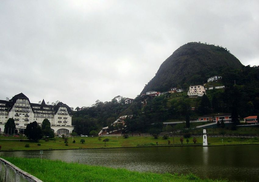 Cloud - Sky Architecture Travel Destinations Built Structure Mountain Building Exterior Outdoors Vacations Tranquility Storm Cloud No People Day Sky Tree Water Nature Beauty In Nature Petrópolis Palacio Quitandinha