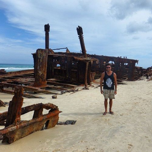 The wreck of the SS Maheno Fraserisland Thisisqueensland Travelling Rtw ChasingTheWorld LifesABeach SeeAustralia ShipWreck 1935