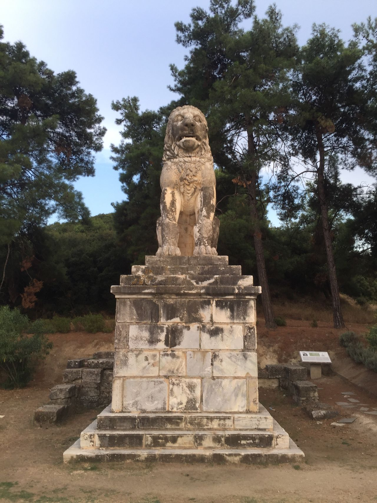 And Lion of Amphipolis one again. Greece Photos Statue Sculpture Memorial Tombstone Place Of Burial Memories Hystorical Hystorical Place Animal Themes Animal Love Animal_collection Historical Monuments