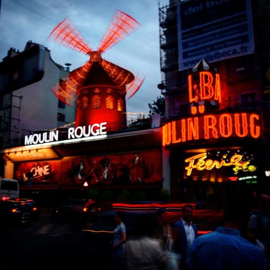 Moulin Rouge Moulin Rouge Moulin Paris Parisjetaime Night Travel Destinations City Architecture Lights France