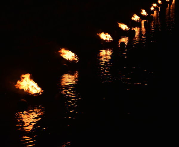 WaterFire in Providence, RI September 23, 2017 Camp Fire Fire Pit Flames Rhode Island Barnaby Evans Bonfire Brazier Burning Flame Night No People Providence Reflection River River Fire Torch Water Water Fire Waterfront An Eye For Travel