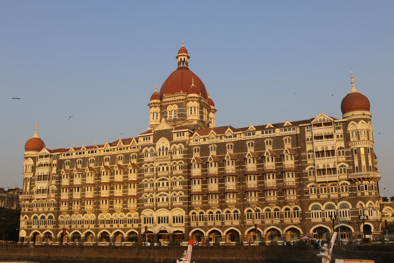 Architecture Building Exterior Built Structure Clear Sky Day Famous Place Famous Places Mumbai Outdoors Sky Tajhotel Tajhotelmumbai Tourism Tourist Tourist Attraction  Tourist Hotel Travel Destinations