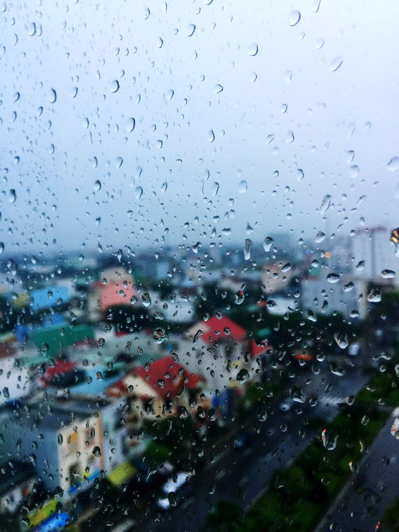 Sea Phoenix Hotel Danangcity, Vietnam Rainy Day Window View Rain Drops No People Sky City View  2017 New Year Wet Winter