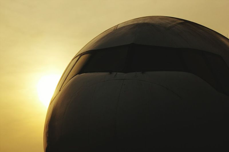Sunset No People Sky Close-up Outdoors Day Commercial Airplane Airfield Aerospace Industry Air Vehicle Business Finance And Industry Travel Transportation Airport Airplane