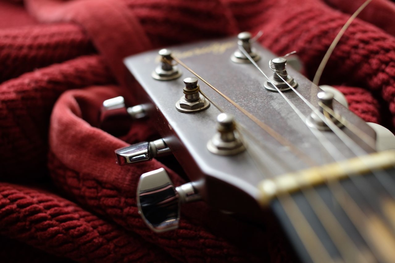 Music Musical Instrument Indoors  Arts Culture And Entertainment No People Red Musical Instrument String Close-up Day