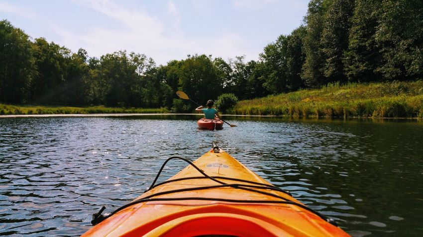 Kayak Pond Water Nature Perspective Water Tree Day Nature Outdoors Lake No People