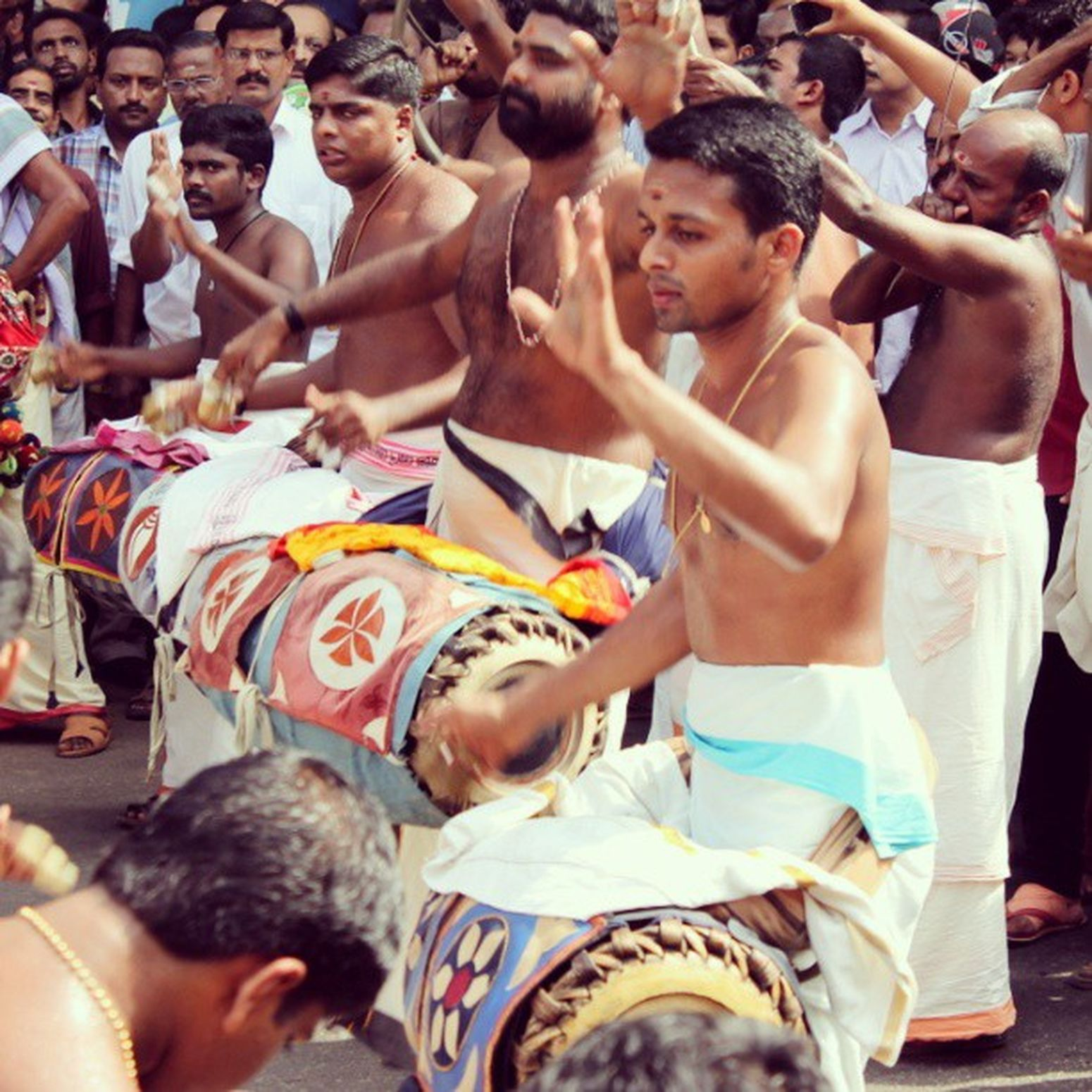 Chenda Melam Drums Instruments thrissur trichur pooram kerala 2013