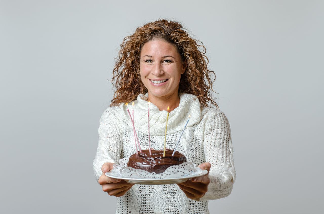Beautiful stock photos of cake,  40-44 Years,  Birthday Candles,  Blond Hair,  Cake