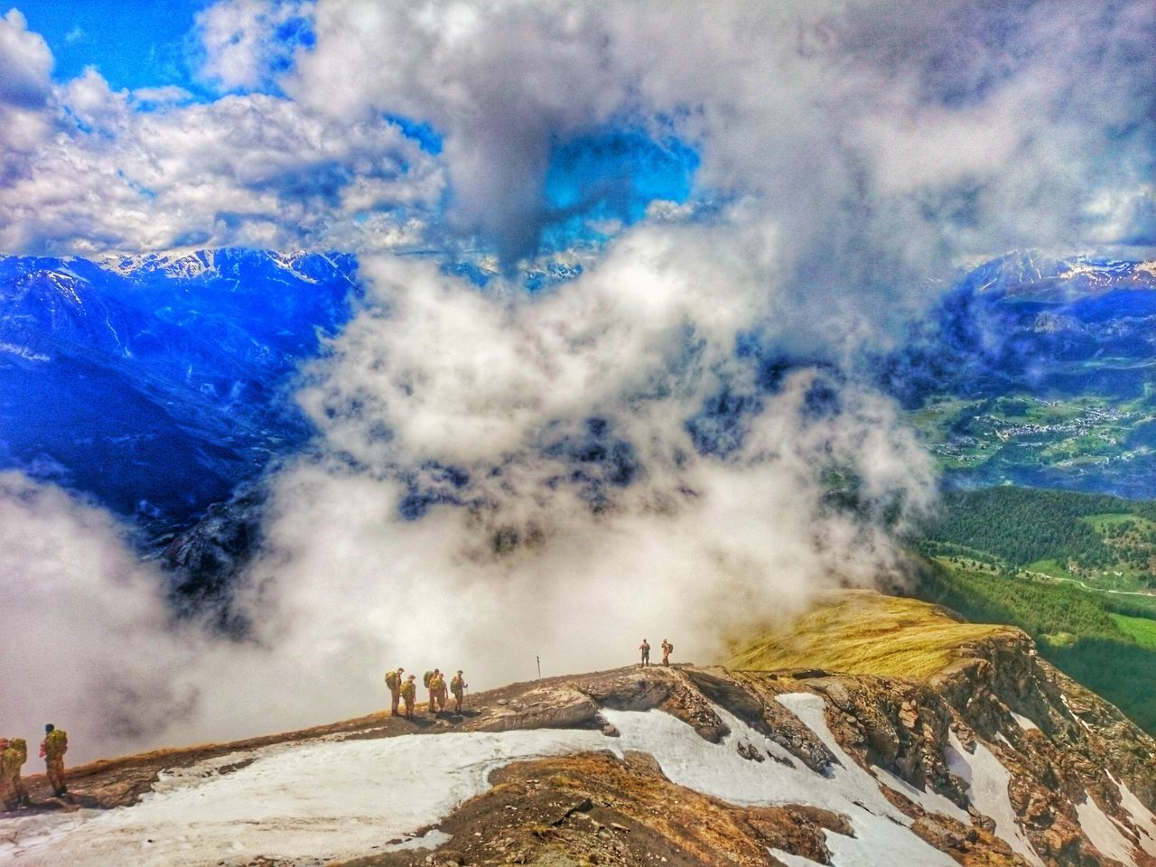 Mountain Cloud - Sky Outdoors Nature Army Life Strong Sky Blue Day Beauty In Nature No People Live For The Story