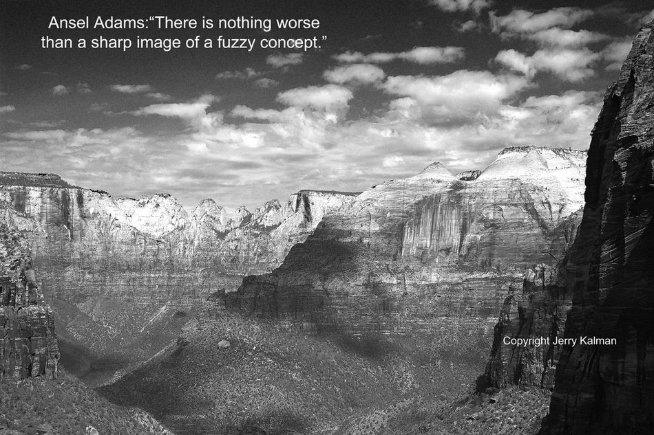 #AnselAdams birthday and an Adams-styled black and white photo of #Angel'sLanding in #ZionNationalPark seems to fit. If this #quotograph resonates with you feel free to #repost for others to enjoy. Angel Ansel Ansel Adams Cloud - Sky Q Quotes Quotograph Zion National Park