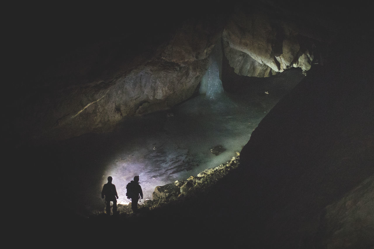 A few hundred meters below the surface all water was frozen. Adventure Beauty In Nature Cave Dark Frozen Hiking Ice Lifestyles Men Nature Outdoors Power In Nature River Two People