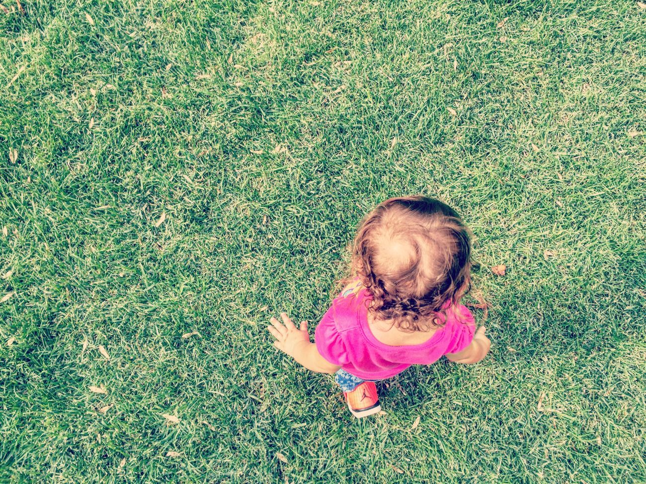 Reimparare a camminare. Grass Babyhood Happiness Childhood Outdoors First Eyeem Photo