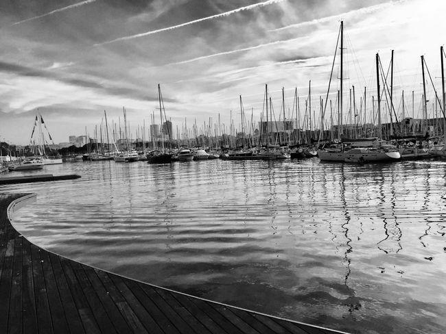 Eye4photography  EyeEm Best Shots - Nature EyeEm Best Shots EyeEm Bnw EyeEm Black&white! Eye4black&white  Blackandwhite Photography Blackandwhite Blancoynegro Port Barcelona