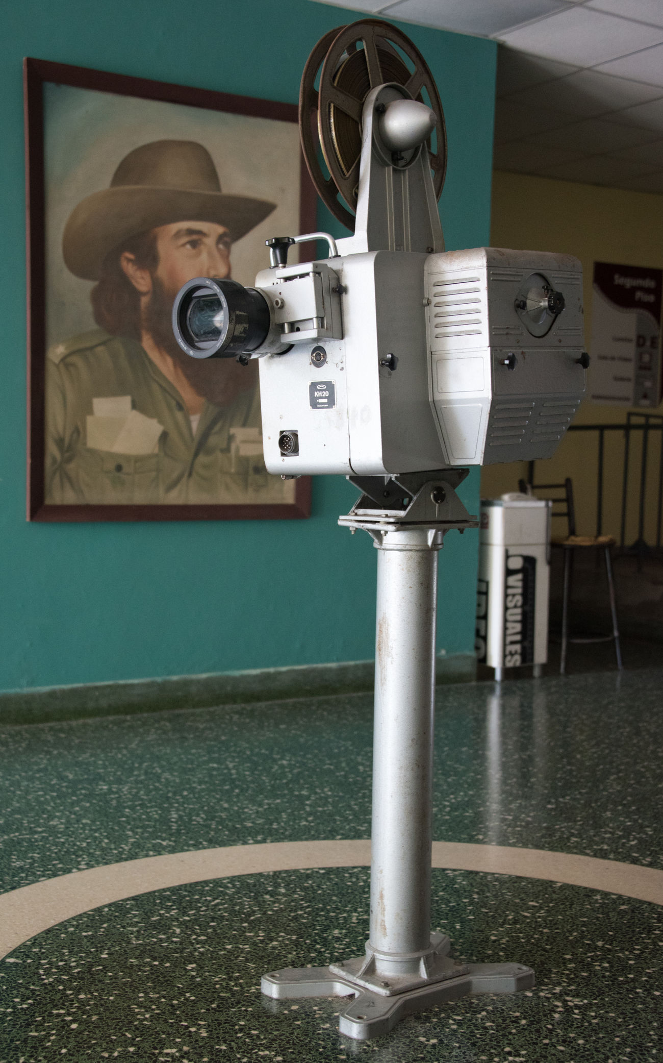 Camilo Cienfuegos, Cinema Cuba Day Entrance Equipment Hall Historic Movie Theater National Monument Old Projection Santa Clara Santa Clara Cuba Sightseeing Vintage