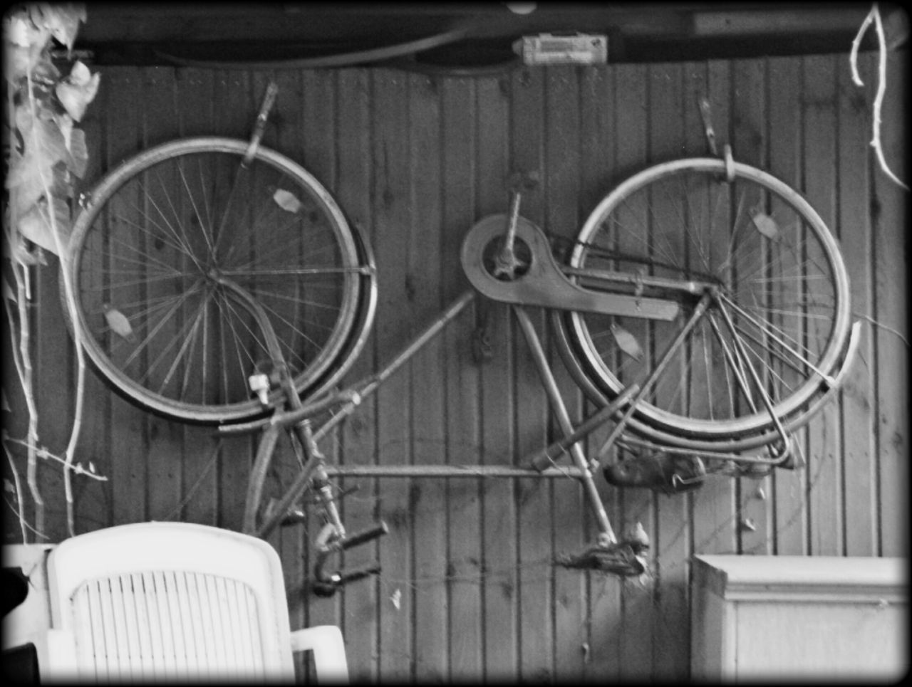 Bicycle Hanging Out Garage Blackandwhite Photography Outdoor Photography No People