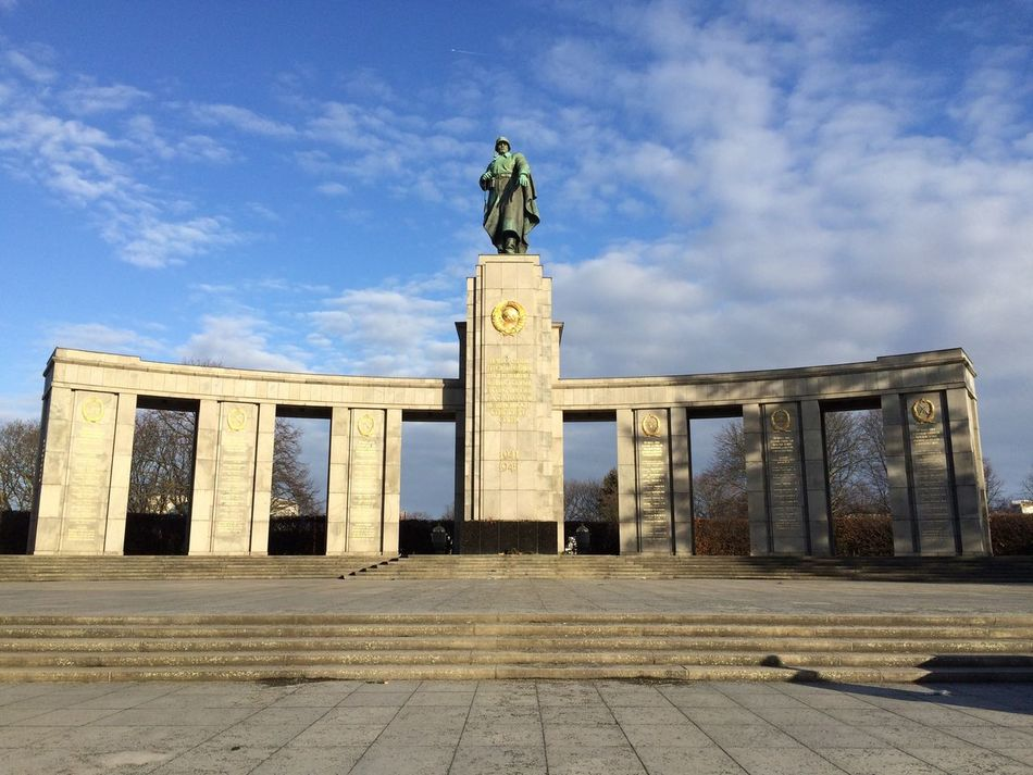 Russia War Monuments Berlin IPhoneography Memories Monument Built Structure Landmark City In Front Of City Life Architecture Tranquil Scene Tranquility