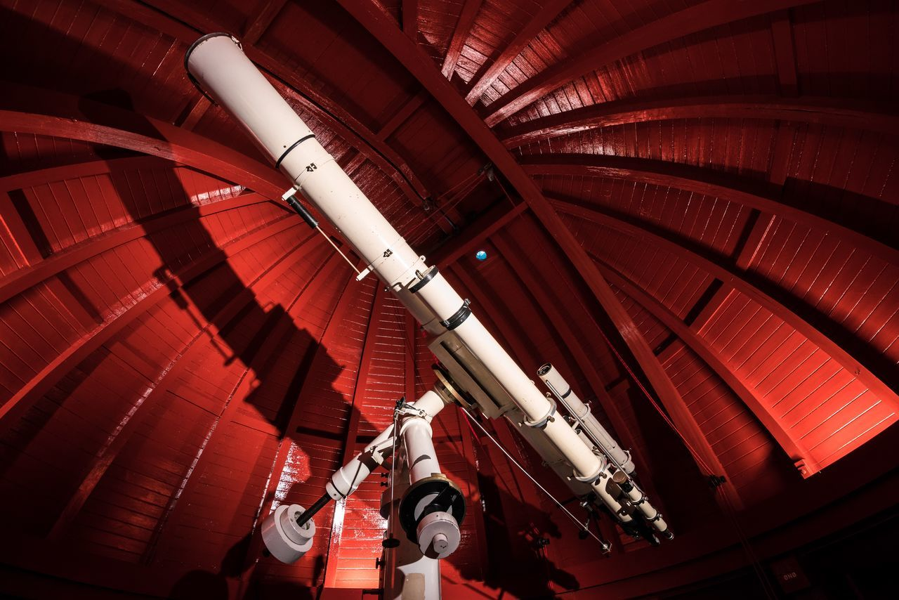 The Observatory Astronomy City Copenhagen Danmark Denmark Equipment Illuminated Indoor Indoors  Inside Interior Observatory Red Round Tower Rundetårn  Scandinavia Shadow Shadows Shadows & Lights Technology Telescope