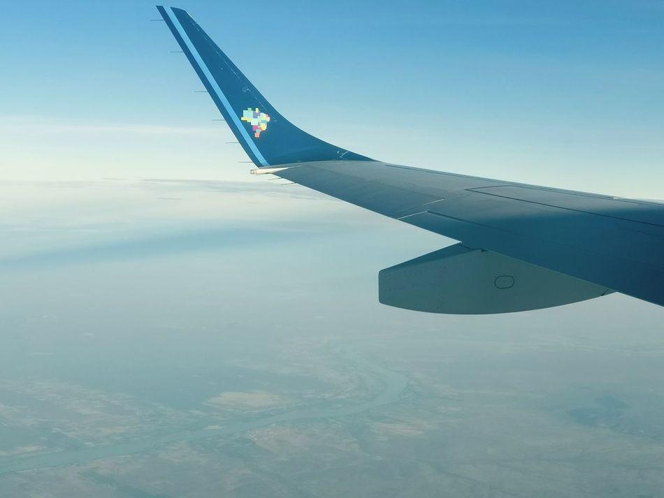 Airplane Airplane Wing Turbine Cloud Sky River River View Sunrise No People Day Rio Sao Francisco Petrolina Brazil