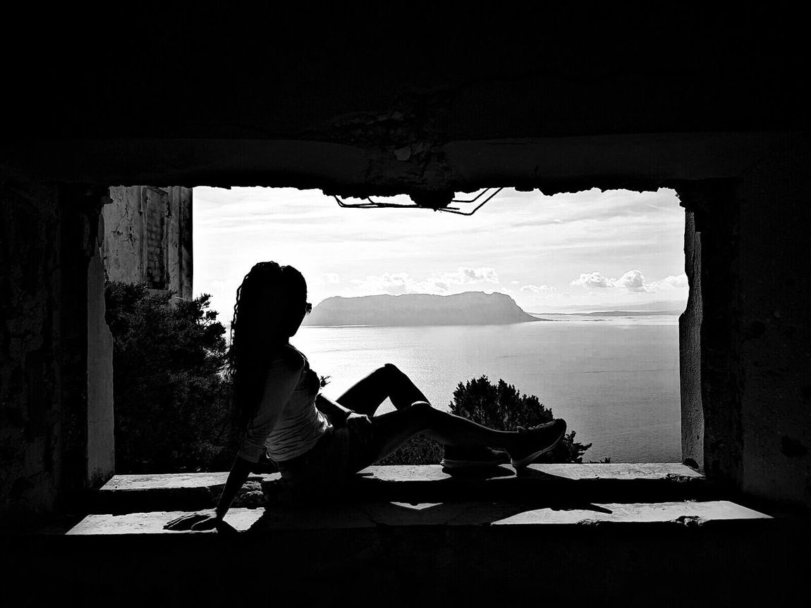 Light And Shadow Shadow Blackandwhite Black And White Tavolara Shilouette Woman Portrait Side View Window Relaxation Olbia  Sardegna Sardinia Golfo Aranci My Year My View The Great Outdoors - 2017 EyeEm Awards