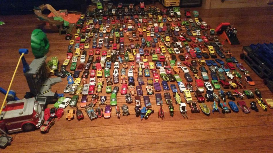 This is my little boy's hot wheel collection.... Hot Wheels 5 Years Old Cars Truck Bikes A HUGE Fan Like How Many? NYC Photography Kids The Good Life