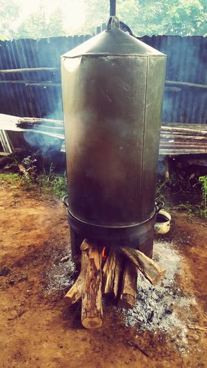 Water No People Food Outdoors Day Steaming Burning Wood Cooking Smoke Old House Traditional Cooking Fire