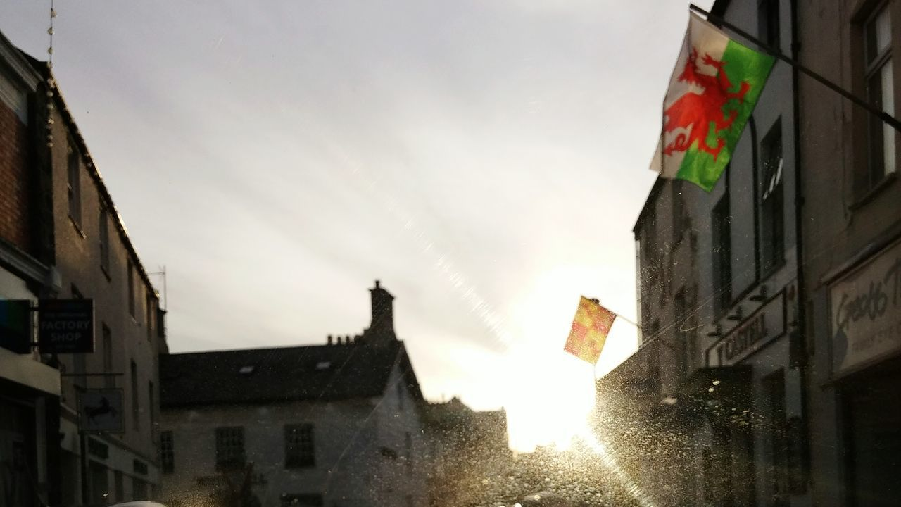 Welsh Spring Flags Sunny Day Here Belongs To Me