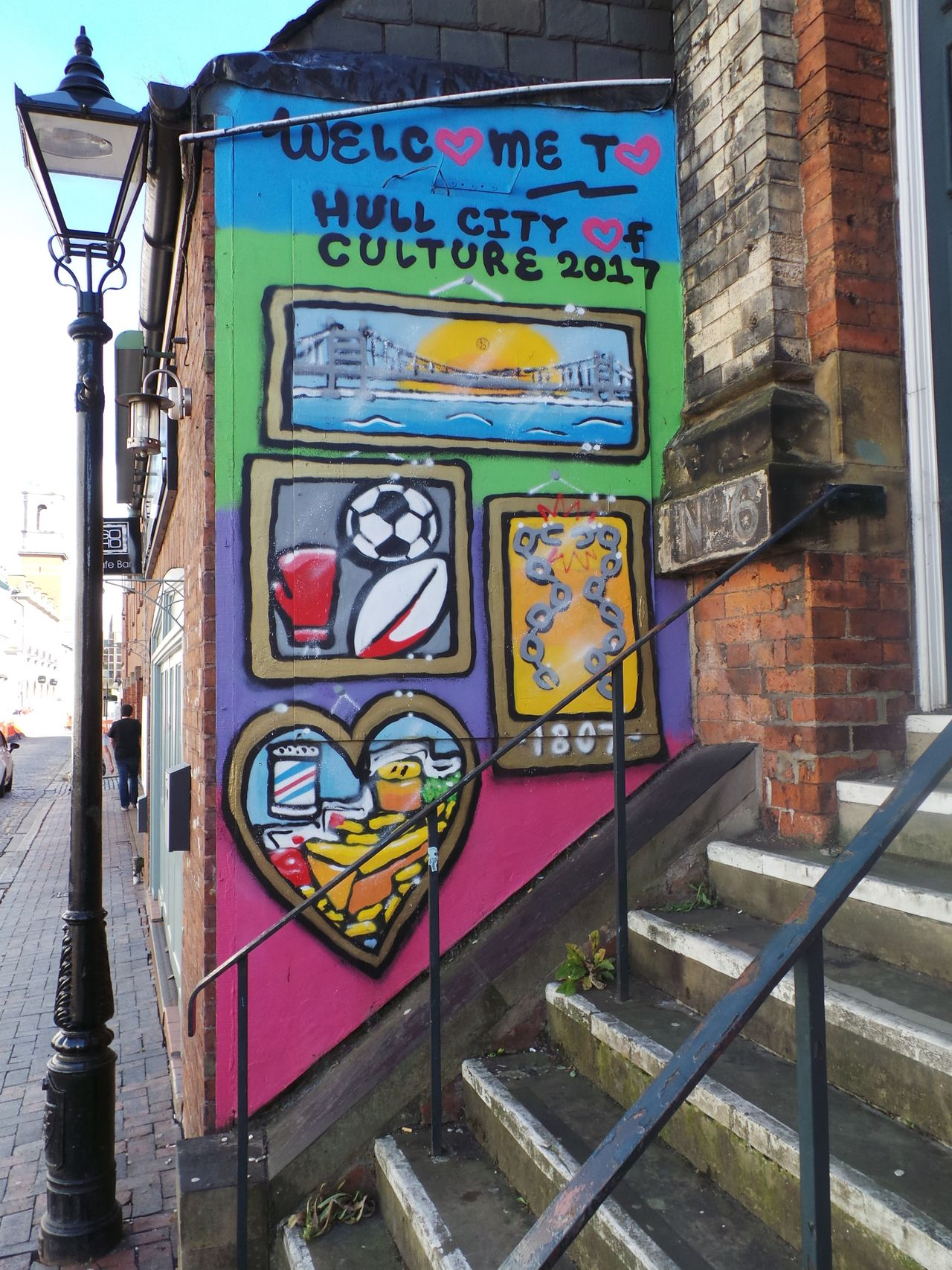 Graffiti Art Built Structure Creativity Architecture Art And Craft Building Exterior Sidewalk City Public Transport Outdoors Day Multi Colored City Life No People Hull City Of Culture 2017 Hull 2017 Hull City Of Culture 2017