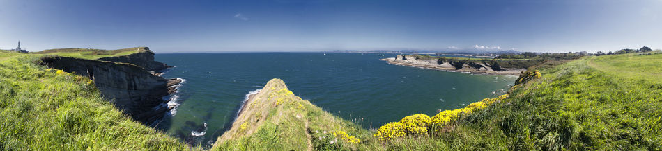 Cantabria Cantabric Sea Cantábrico Cliff Coastline Green Lighthouse Santander Sea Seascape SPAIN
