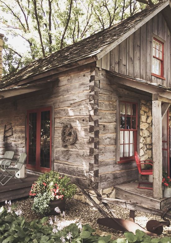 Weathered wood house Built Structure Architecture Building Exterior House Day Outdoors No People Tree Growth Plant Nature rustic porch farm