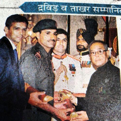 RahulDravid & BajrangLalTakhar get PadamShri award.... PranavMukharji