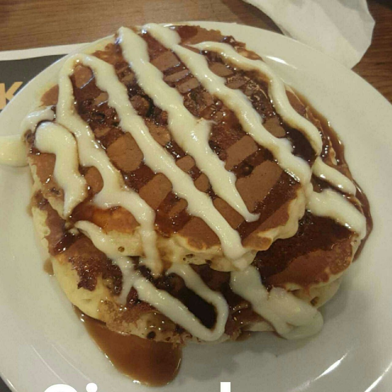 Had some cinnabon pancakes from dennys and they were delicious! Food And Drink Sweet Food Freshness Food Table Indulgence Unhealthy Eating Ready-to-eat Temptation Dessert Food Breakfast Cinnabon Cinnabonpancakes Pancakes Pancake Yummy Frosting