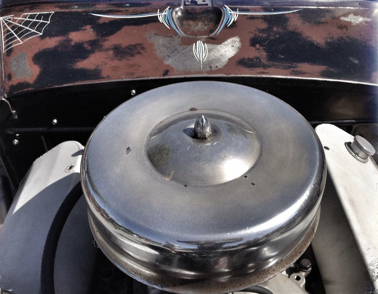 Air Filter Big Block Chrome Close-up Day No People Old School Rost Rust US Car US Car Classics US Cars V8 Engine Vintage Water