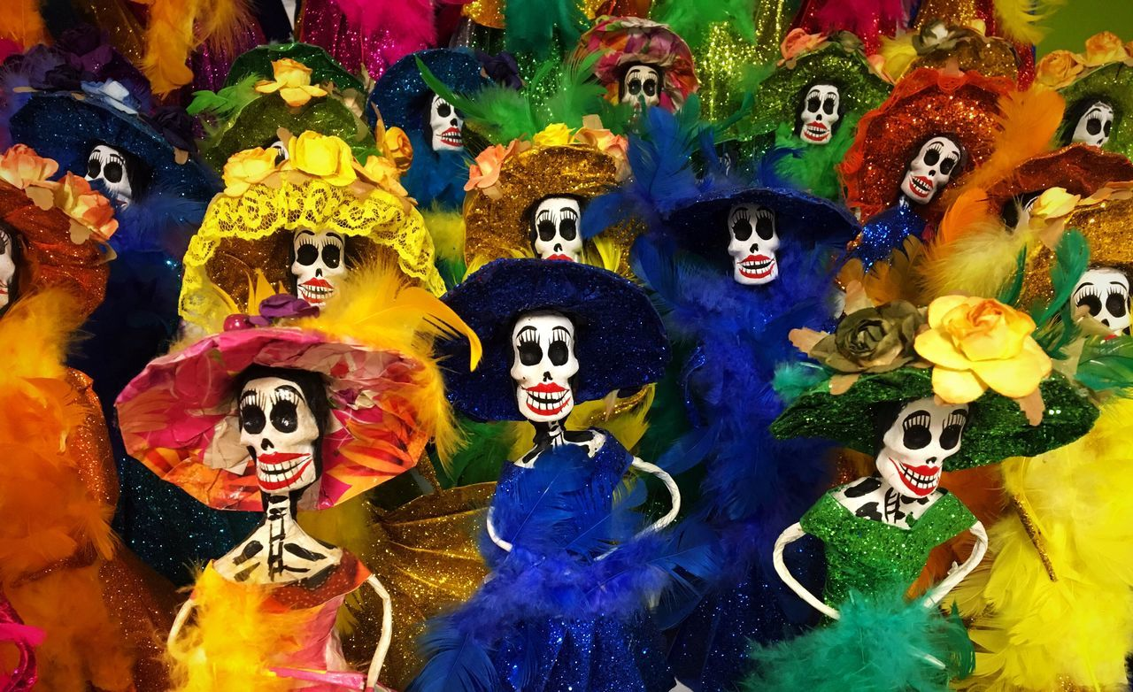 Tradition Multi Colored Close-up Indoors  No People Day Skeleton Mexico Mexican Art MexicanTradition La Catrina ~