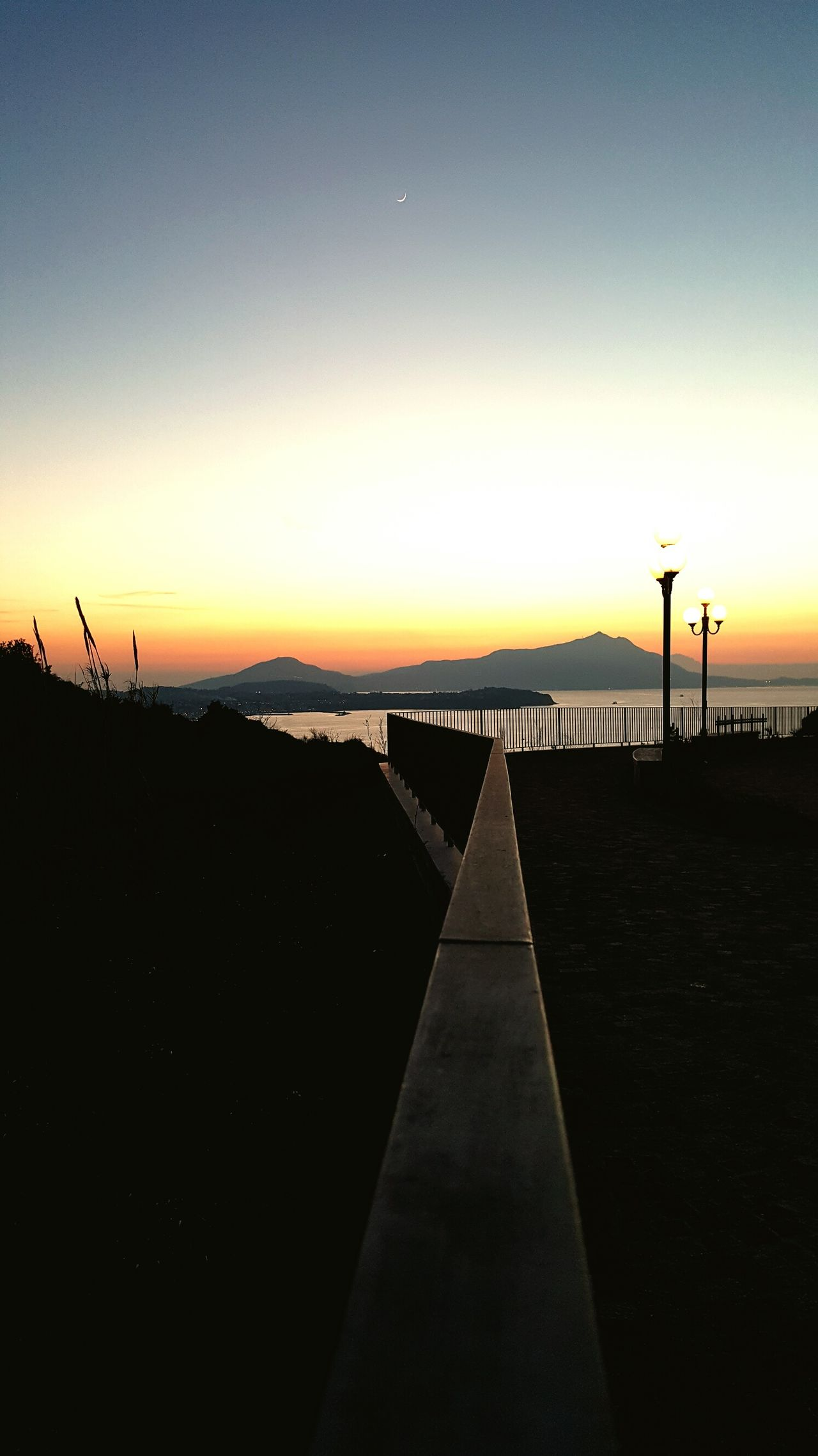 Night Beauty In Nature Sky Nature Outdoors Sunset No People Tranquility Skylovers Sky Porn Seaview Napoli ❤ Napoli Sea And Sky Tranquil Scene Beauty In Nature Landscape Landscape_photography Nature Scenics Sea Architecture Illuminated