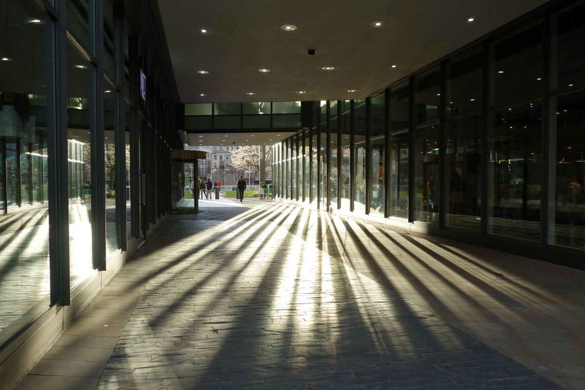 Manchester Piccadilly Gardens Light And Shadows Grsphic