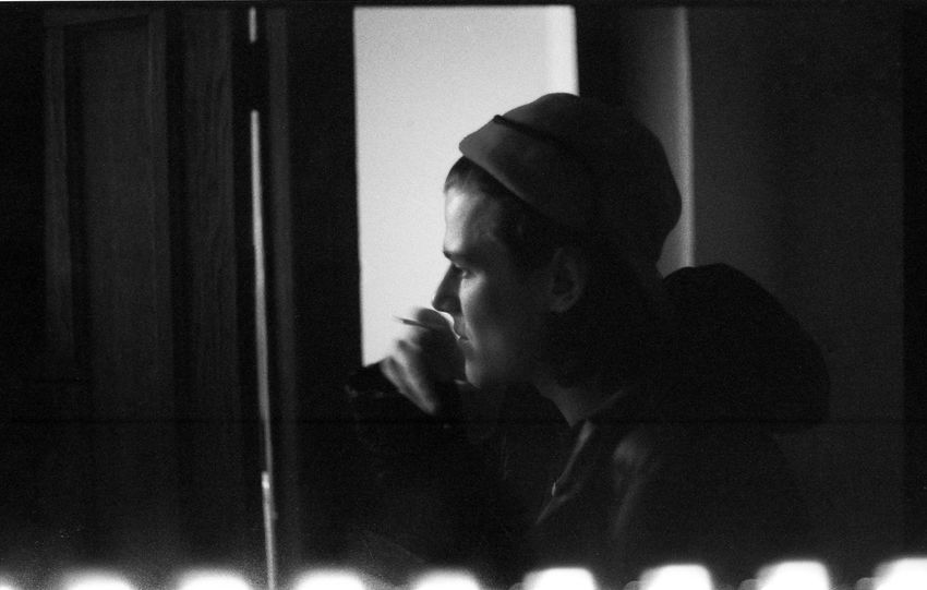 Another scanning error! Charlie G. Black And White Blackandwhite Boy Contrast Depth Of Field EyeEm Best Shots Film Film Photography Filmisnotdead Hat Lifestyles Light And Shadow Man Nikkormat FS (1965) Person Portrait Portrait Of A Friend Real People Selective Focus Showcase March Tadaa Community Young Adult