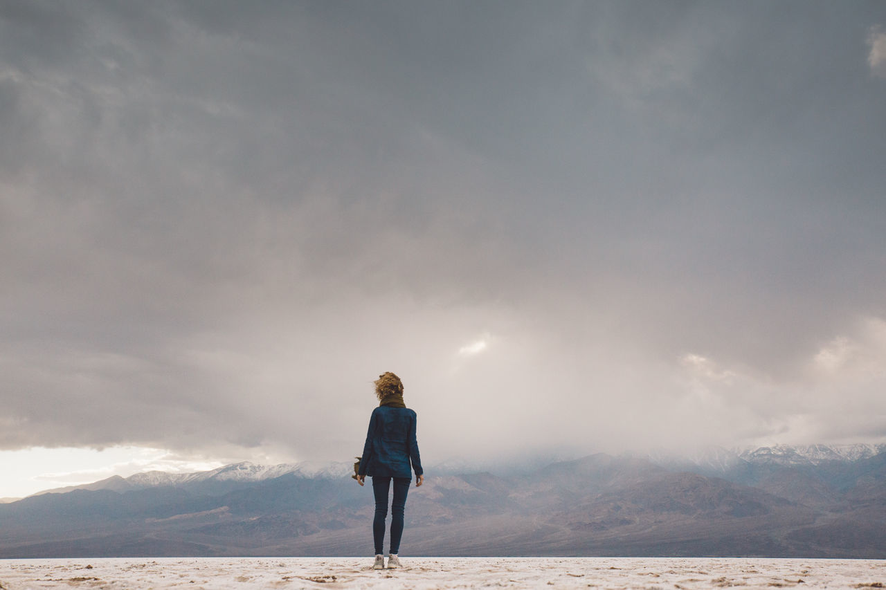 Full Length Of Woman Standing Against Sky