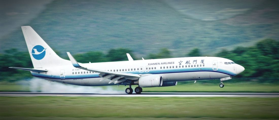 Airplane Travel Air Vehicle Take Off & Landing Landing - Touching Down 3XSPUnity Landing Airplane Xiamen Airlines Chinaeastern Airlines Traveling Home For The Holidays