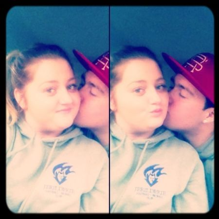 Selfies in the car with the Boyfriend at Football