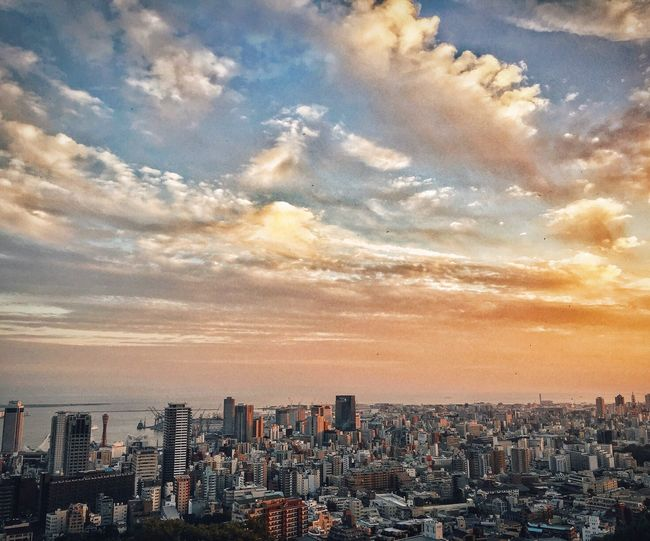 City Sky Cityscape Urban Skyline Sunset Nature 神戸 Kobe-shi,Japan IPhone ShotOnIphone Japan