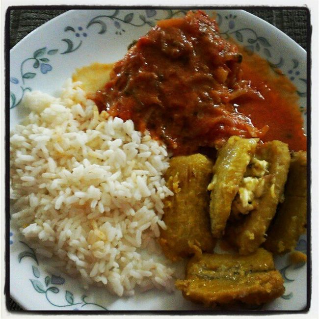 My Grandma is a champion chef!!! Stewedsnapper Boiledplantains GuyaneseStyle Homecooked lash